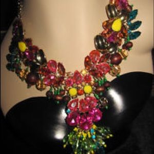 Betsey Johnson Calypso Sharky Bead Drama Necklace